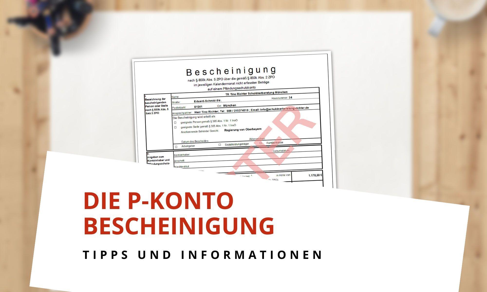 Die P-Konto-Bescheinigung - Tipps und Informationen
