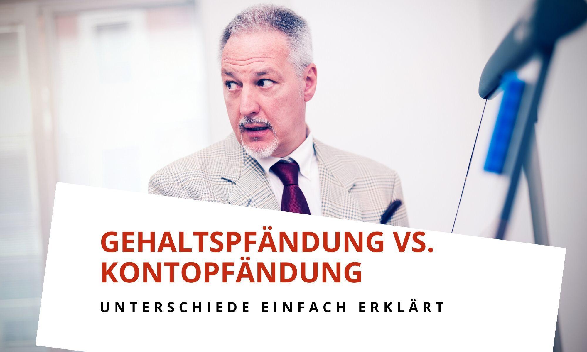 Kontopfändung vs. Lohnpfändung - was ist der Unterschied