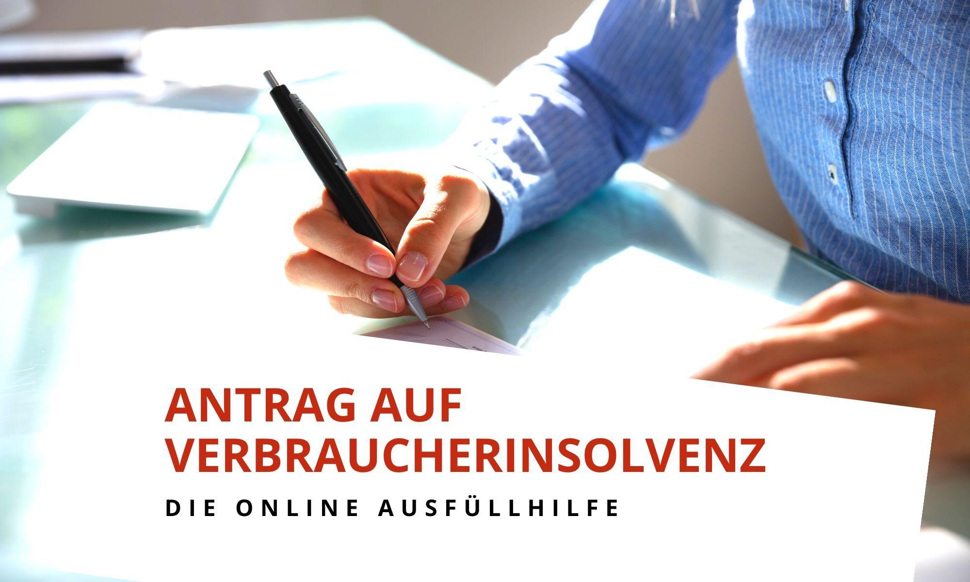 Insolvenzantrag online ausfüllen