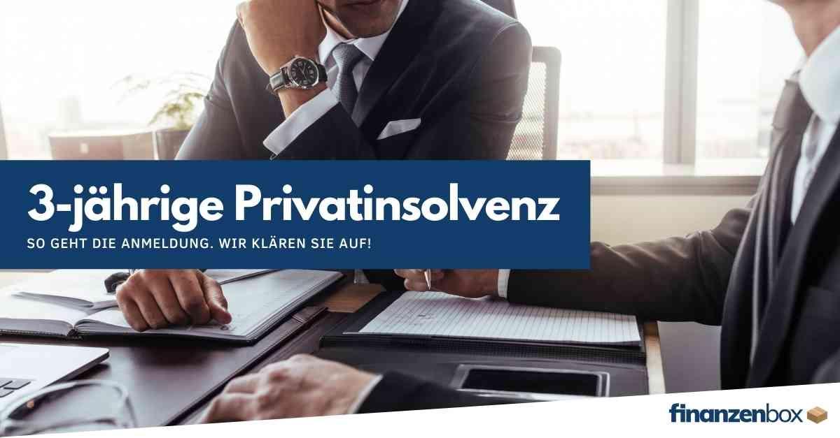 So melden Sie die 3-jährige Privatinsolvenz an